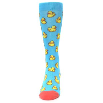 Image of Blue Yellow Rubber Ducks Men's Dress Socks (front-05)