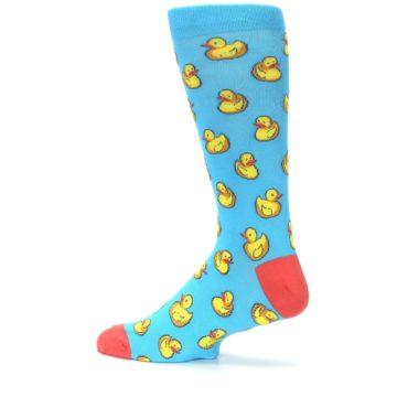 Image of Blue Yellow Rubber Ducks Men's Dress Socks (side-2-13)