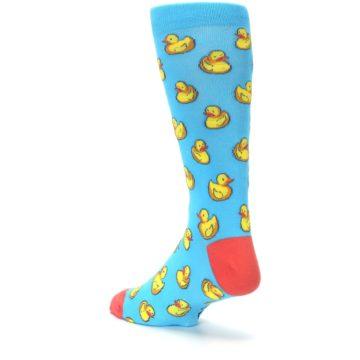 Image of Blue Yellow Rubber Ducks Men's Dress Socks (side-2-back-15)