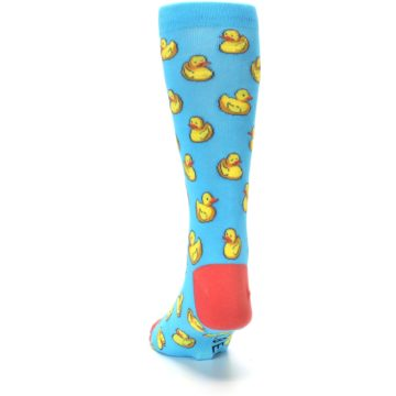 Image of Blue Yellow Rubber Ducks Men's Dress Socks (back-17)