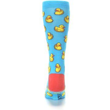 Image of Blue Yellow Rubber Ducks Men's Dress Socks (back-18)