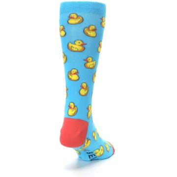 Image of Blue Yellow Rubber Ducks Men's Dress Socks (side-1-back-20)