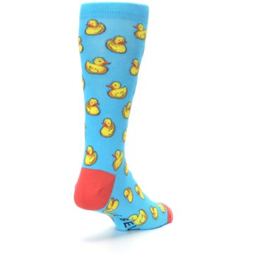 Image of Blue Yellow Rubber Ducks Men's Dress Socks (side-1-back-21)