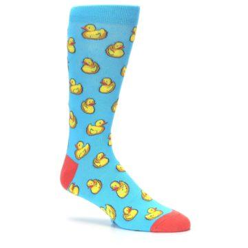 Image of Blue Yellow Rubber Ducks Men's Dress Socks (side-1-26)
