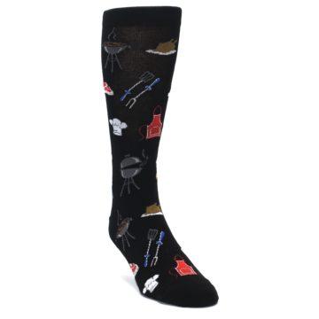 Image of Black Grill Master Men's Dress Socks (side-1-front-02)