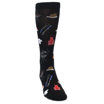 Image of Black Grill Master Men's Dress Socks (side-1-front-03)