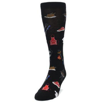 Image of Black Grill Master Men's Dress Socks (side-2-front-06)