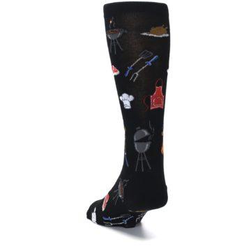 Image of Black Grill Master Men's Dress Socks (side-2-back-16)