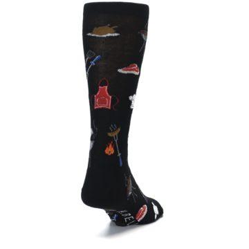 Image of Black Grill Master Men's Dress Socks (side-1-back-20)