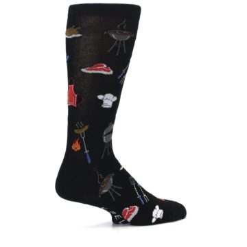 Image of Black Grill Master Men's Dress Socks (side-1-23)