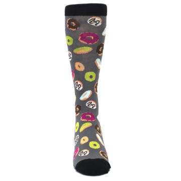 Image of Grey Black Donuts Men's Dress Socks (front-04)