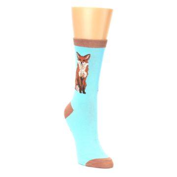 Image of Blue Brown Fox Women's Dress Socks (side-1-front-02)