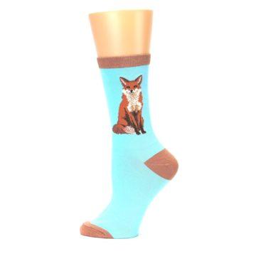 Image of Blue Brown Fox Women's Dress Socks (side-2-12)