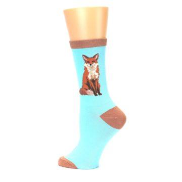 Image of Blue Brown Fox Women's Dress Socks (side-2-13)