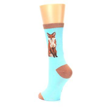 Image of Blue Brown Fox Women's Dress Socks (side-2-back-15)
