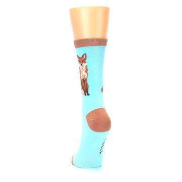 Image of Blue Brown Fox Women's Dress Socks (back-17)
