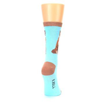 Image of Blue Brown Fox Women's Dress Socks (side-1-back-20)