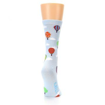 Image of Blue Hot Air Balloons Women's Dress Socks (side-1-back-20)