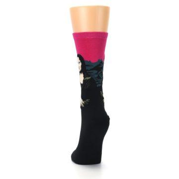 Image of Pink Mona Lisa Women's Dress Socks (back-17)
