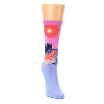 Image of Monet's Parliament at Sunset Women's Dress Socks (side-1-front-03)
