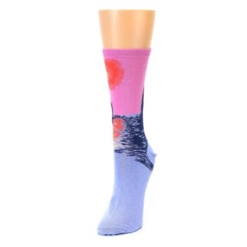 Image of Monet's Parliament at Sunset Women's Dress Socks (side-2-front-07)