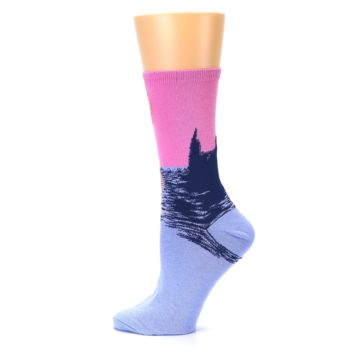 Image of Monet's Parliament at Sunset Women's Dress Socks (side-2-12)