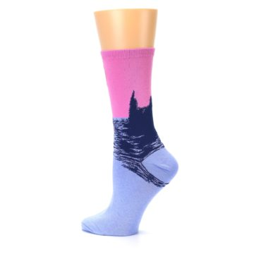 Image of Monet's Parliament at Sunset Women's Dress Socks (side-2-13)