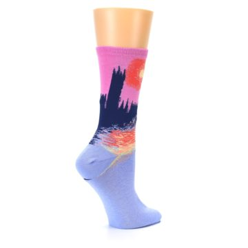Image of Monet's Parliament at Sunset Women's Dress Socks (side-1-23)
