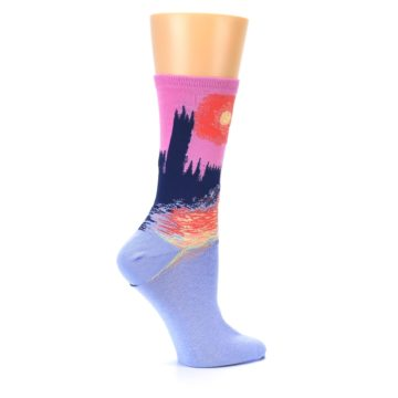 Image of Monet's Parliament at Sunset Women's Dress Socks (side-1-24)