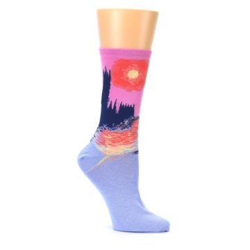 Image of Monet's Parliament at Sunset Women's Dress Socks (side-1-26)