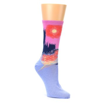 Image of Monet's Parliament at Sunset Women's Dress Socks (side-1-27)