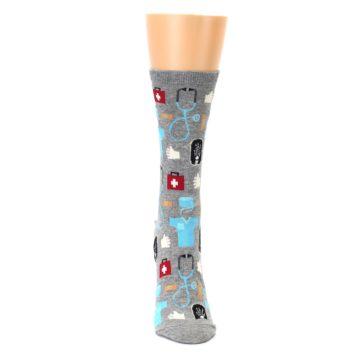 Image of Grey Medical Women's Dress Socks (front-04)