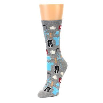 Image of Grey Medical Women's Dress Socks (side-2-front-08)