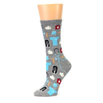 Image of Grey Medical Women's Dress Socks (side-2-10)