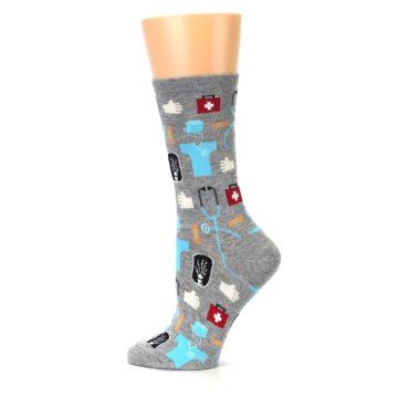 Image of Grey Medical Women's Dress Socks (side-2-12)