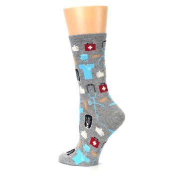 Image of Grey Medical Women's Dress Socks (side-2-13)