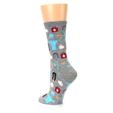 Image of Grey Medical Women's Dress Socks (side-2-back-14)