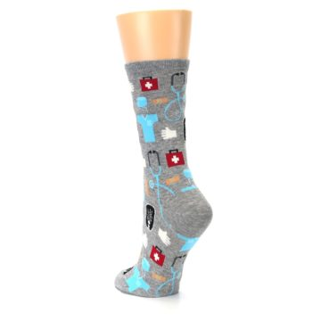 Image of Grey Medical Women's Dress Socks (side-2-back-15)