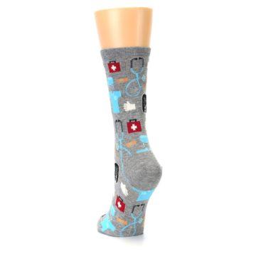 Image of Grey Medical Women's Dress Socks (side-2-back-16)