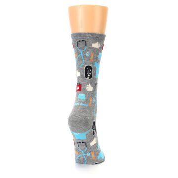 Image of Grey Medical Women's Dress Socks (side-1-back-20)