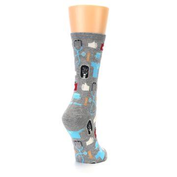 Image of Grey Medical Women's Dress Socks (side-1-back-21)