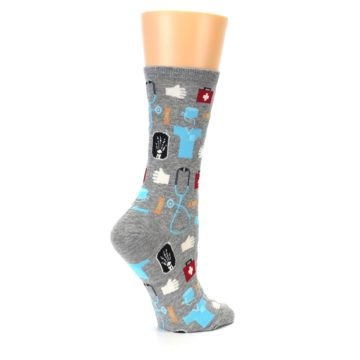 Image of Grey Medical Women's Dress Socks (side-1-23)