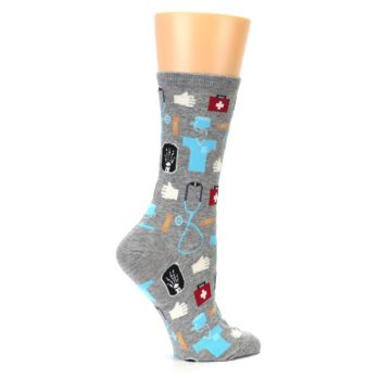 Image of Grey Medical Women's Dress Socks (side-1-24)