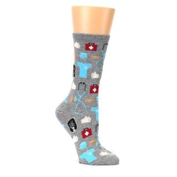 Image of Grey Medical Women's Dress Socks (side-1-26)