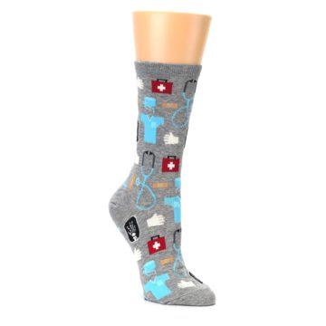 Image of Grey Medical Women's Dress Socks (side-1-27)