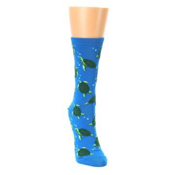 Image of Blue Sea Turtles Women's Dress Socks (side-1-front-03)