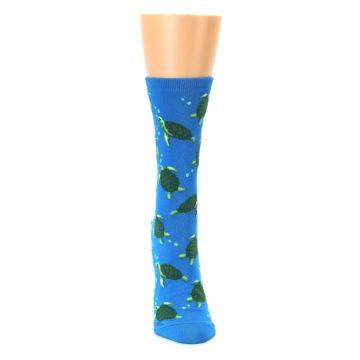Image of Blue Sea Turtles Women's Dress Socks (front-04)
