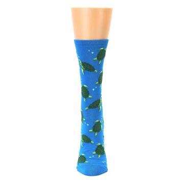 Image of Blue Sea Turtles Women's Dress Socks (front-05)