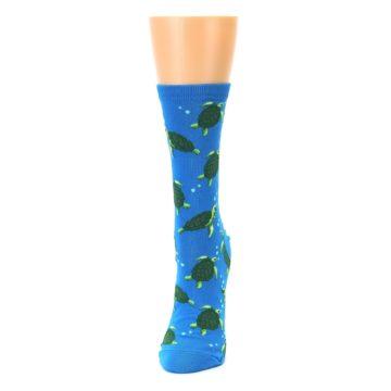 Image of Blue Sea Turtles Women's Dress Socks (side-2-front-06)