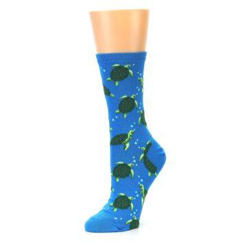 Image of Blue Sea Turtles Women's Dress Socks (side-2-09)